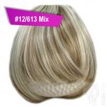 Pony Haarteil Clip In 25-30g Gerade Form Glatt #12/613 Mix + 2 Tressenclips