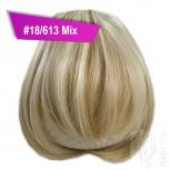 Pony Haarteil Clip In 25-30g Gerade Form Glatt #18/613 Mix + 2 Tressenclips