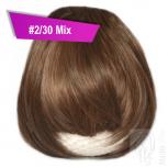Pony Haarteil Clip In 25-30g Gerade Form Glatt #2/30 Mix + 2 Tressenclips