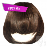 Pony Haarteil Clip In 25-30g Gerade Form Glatt #2/33 Mix + 2 Tressenclips