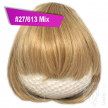 Pony Haarteil Clip In 25-30g Gerade Form Glatt #27/613 Mix + 2 Tressenclips