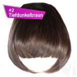 Pony Haarteil Clip In 25-30g Gerade Glatt #2 Tiefdunkelbraun + 2 Tressenclips