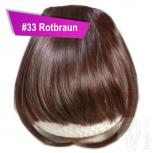 Pony Haarteil Clip In 25-30g Gerade Form Glatt #33 Rotbraun + 2 Tressenclips