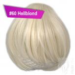 Pony Haarteil Clip In 25-30g Gerade Form Glatt #60 Hellblond + 2 Tressenclips