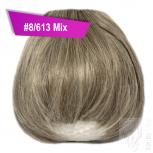 Pony Haarteil Clip In 25-30g Gerade Form Glatt #8/613 Mix + 2 Tressenclips