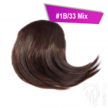 Pony Haarteil Clip In 25-30g Seitliche Form #1B/33 Mix + 2 Tressenclips