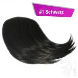 Pony Haarteil Clip In 25-30g Seitliche Form #1 Schwarz + 2 Tressenclips