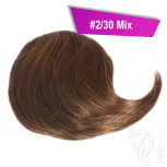Pony Haarteil Clip In 25-30g Seitliche Form #2/30 Mix + 2 Tressenclips