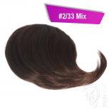 Pony Haarteil Clip In 25-30g Seitliche Form #2/33 Mix + 2 Tressenclips