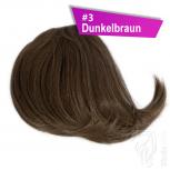 Pony Haarteil Clip In 25-30g Seitliche Form #3 Dunkelbraun + 2 Tressenclips
