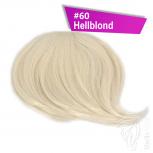 Pony Haarteil Clip In 25-30g Seitliche Form #60 Hellblond + 2 Tressenclips