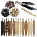 STARTER SET 122 Teile Microring Extensions 0,5g Haarverlängerung 60cm