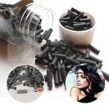 25 Shrinkies Schrinkies schwarz für Rundbonding Echthaar Strähnen