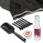 STARTER SET 10 Teile Skin Weft Haarverlängerung Echthaar 60cm