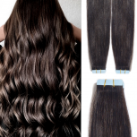 Tape On Extensions Remy Echthaar 40cm Tresse 2g Schwarzbraun #1B