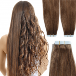 Tape On Extensions Remy Echthaar 60cm Tresse 2,5g Braun #6