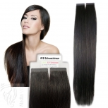 Tape On Extensions Remy Echthaar 45cm Tresse 2g Schwarzbraun #1B