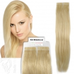 Tape On Extensions Remy Echthaar 45cm Tresse 2g Mittelblond #24