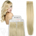 Tape On Extensions Remy Echthaar 60cm Tresse 2,5g Hellblond #60