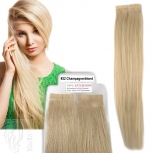 Tape On Extensions Remy Echthaar 45cm Tresse 2g Schwarz #22