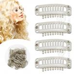 Tressenclips Toupetclips für Haartressen Gr.L Blond