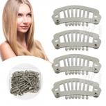 Tressenclips Toupetclips für Haartressen Gr.S Blond