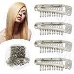 Tressenclips Toupetclips für Haartressen Gr.XL Blond