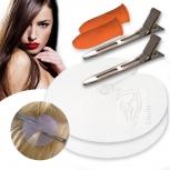 18x Zubehör Set Schablone + Fingerschutz + Haarklammern