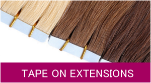 Haarextensions mit Tapes